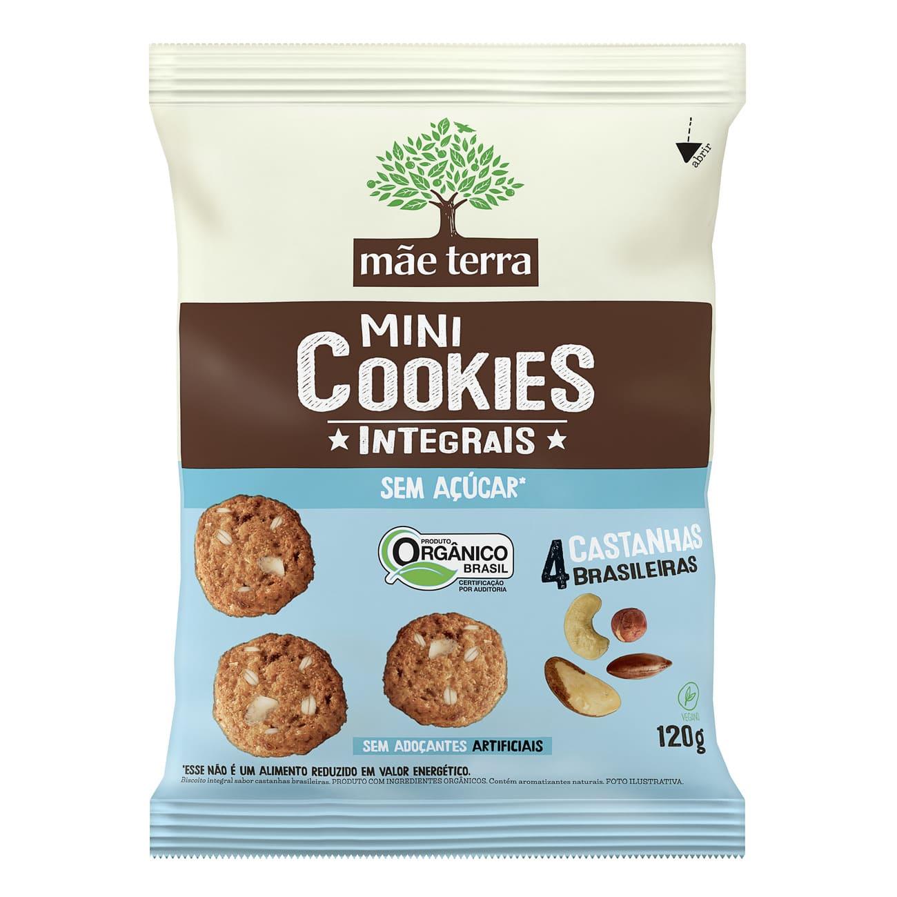 Cookie Integral Orgânico Mãe Terra Diet 4 Castanhas Brasileiras 120g