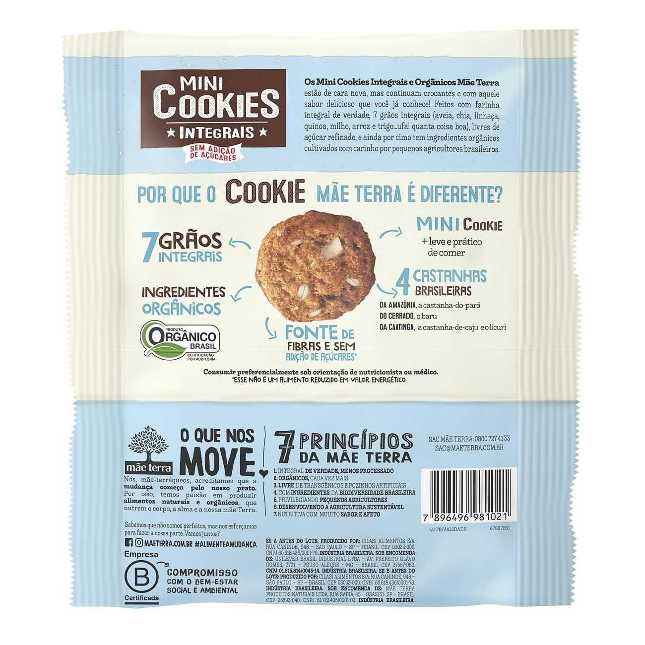 Cookie Integral Org�nico Diet 4 Castanhas Brasileiras 120g