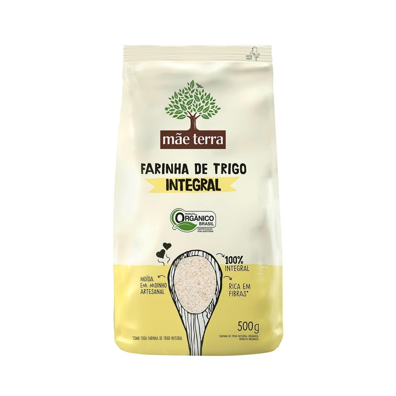 Farinha de Trigo Integral Org�nica 500g