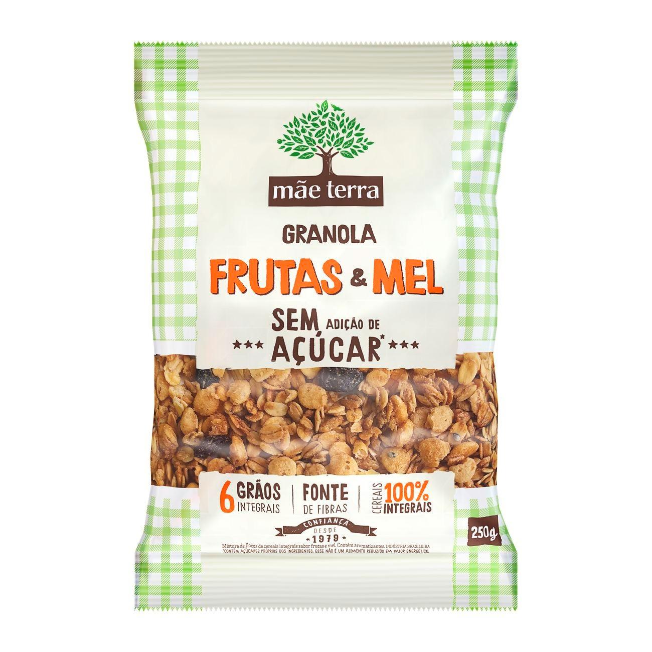 Granola Frutas & Mel sem a��car 250g