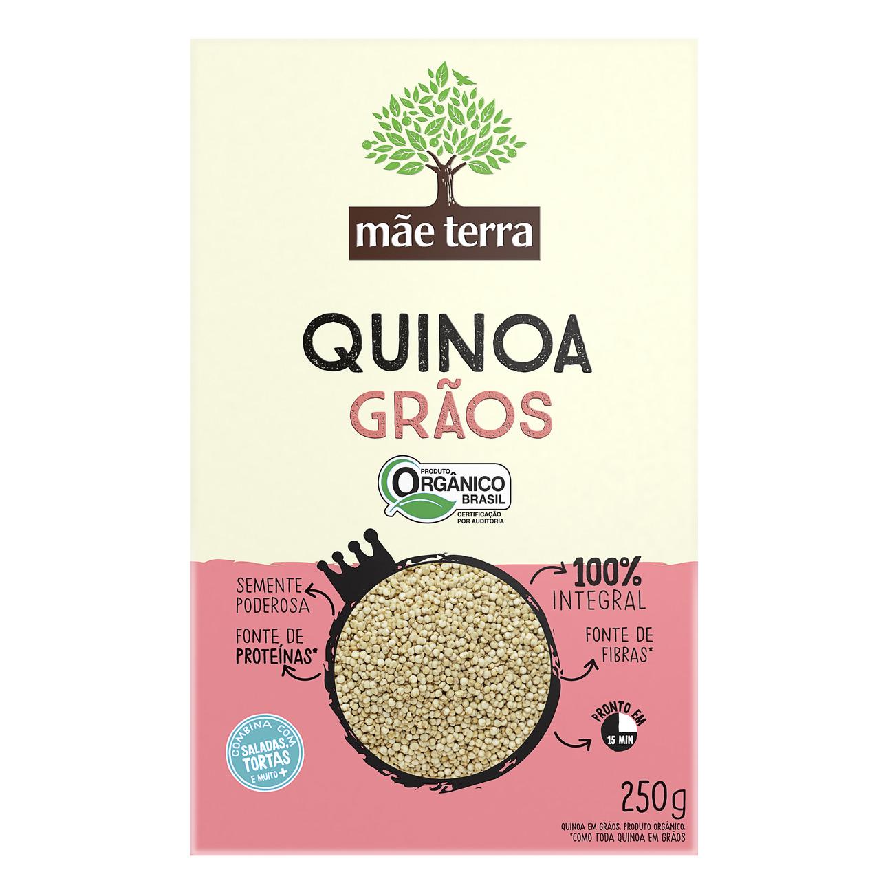 Quinoa em Grãos Integral Orgânica Mãe Terra 250g