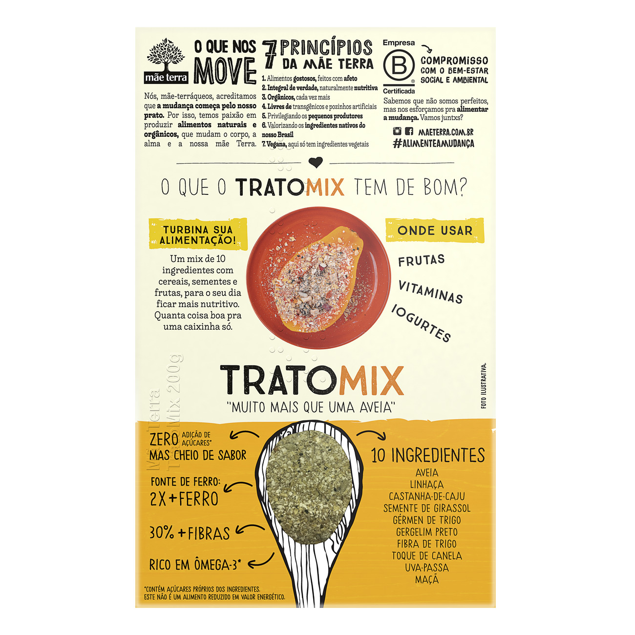 Mix de Cereais M�e Terra Trato Mix 200g