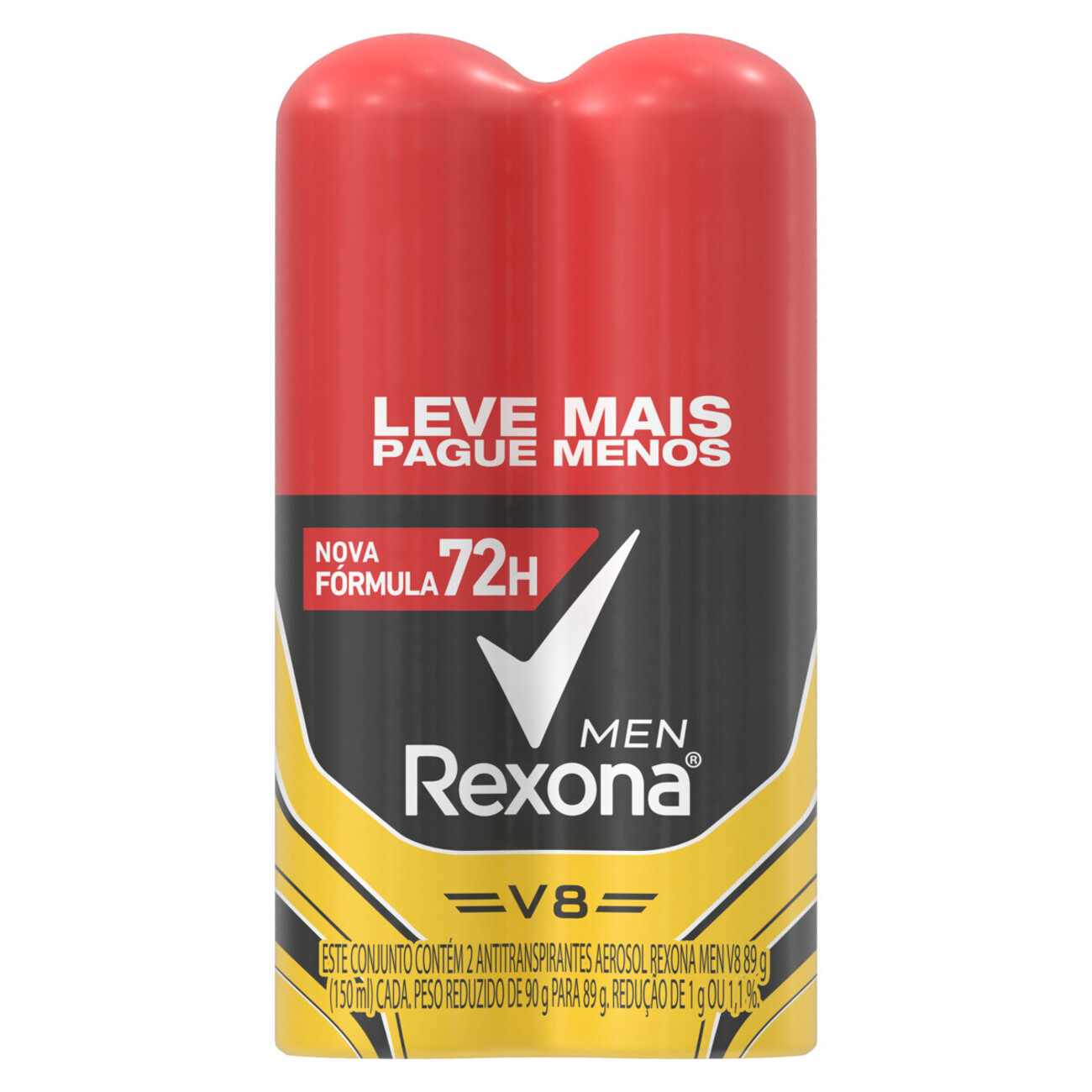 Oferta 2 Desodorantes Antitranspirantes Rexona Men V8 72 horas 150mL