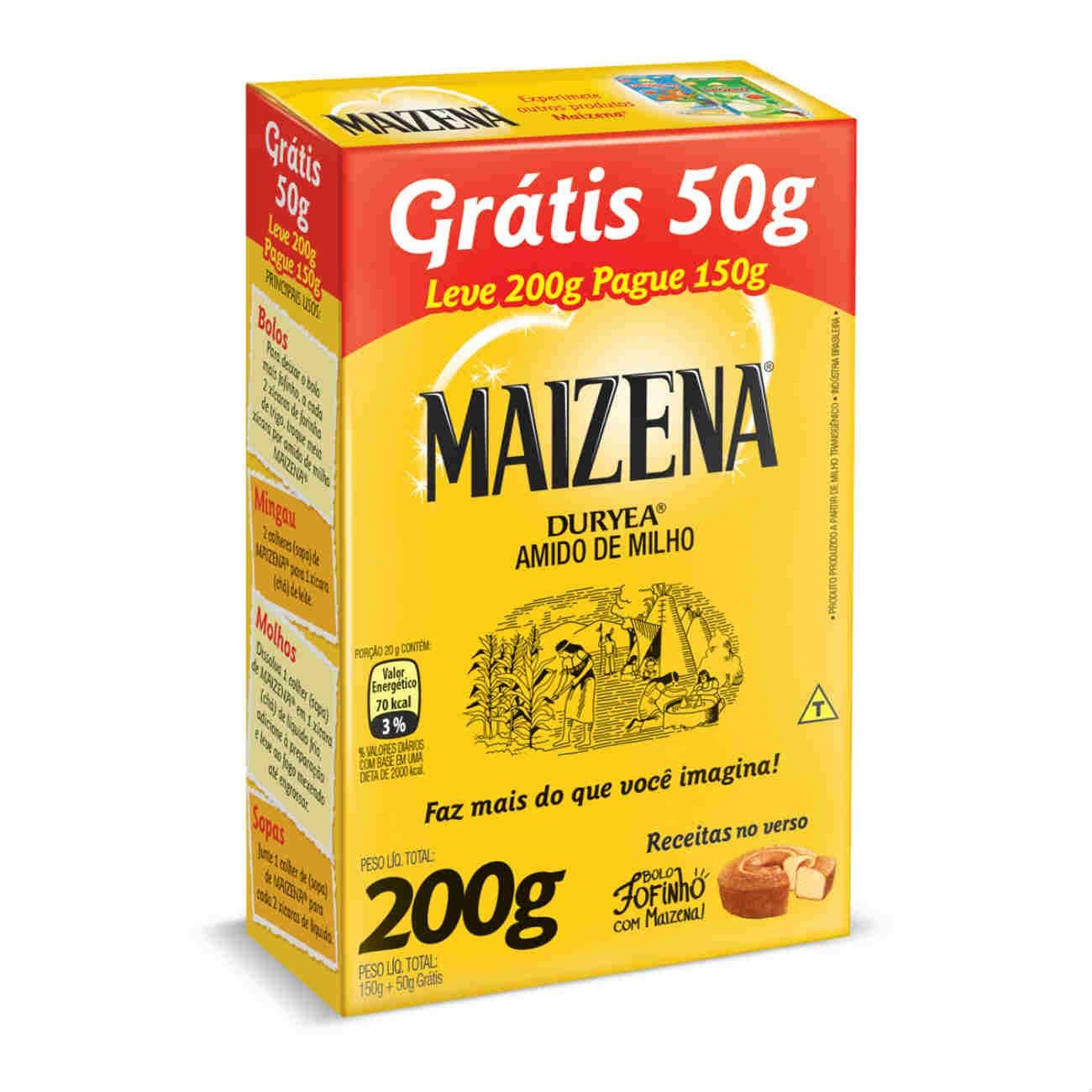 Oferta Amido de Milho Maisena Pague 150g Leve 200g