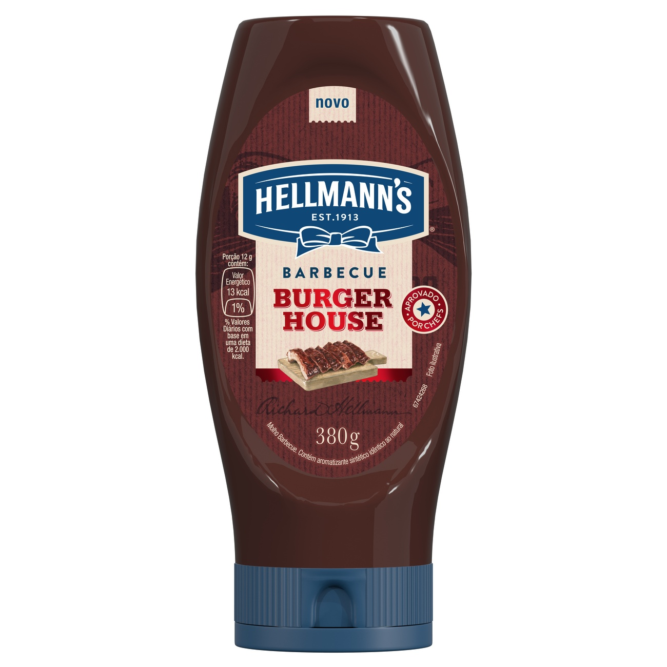 Ketchup Squeeze Hellmann's Barbecue 380g