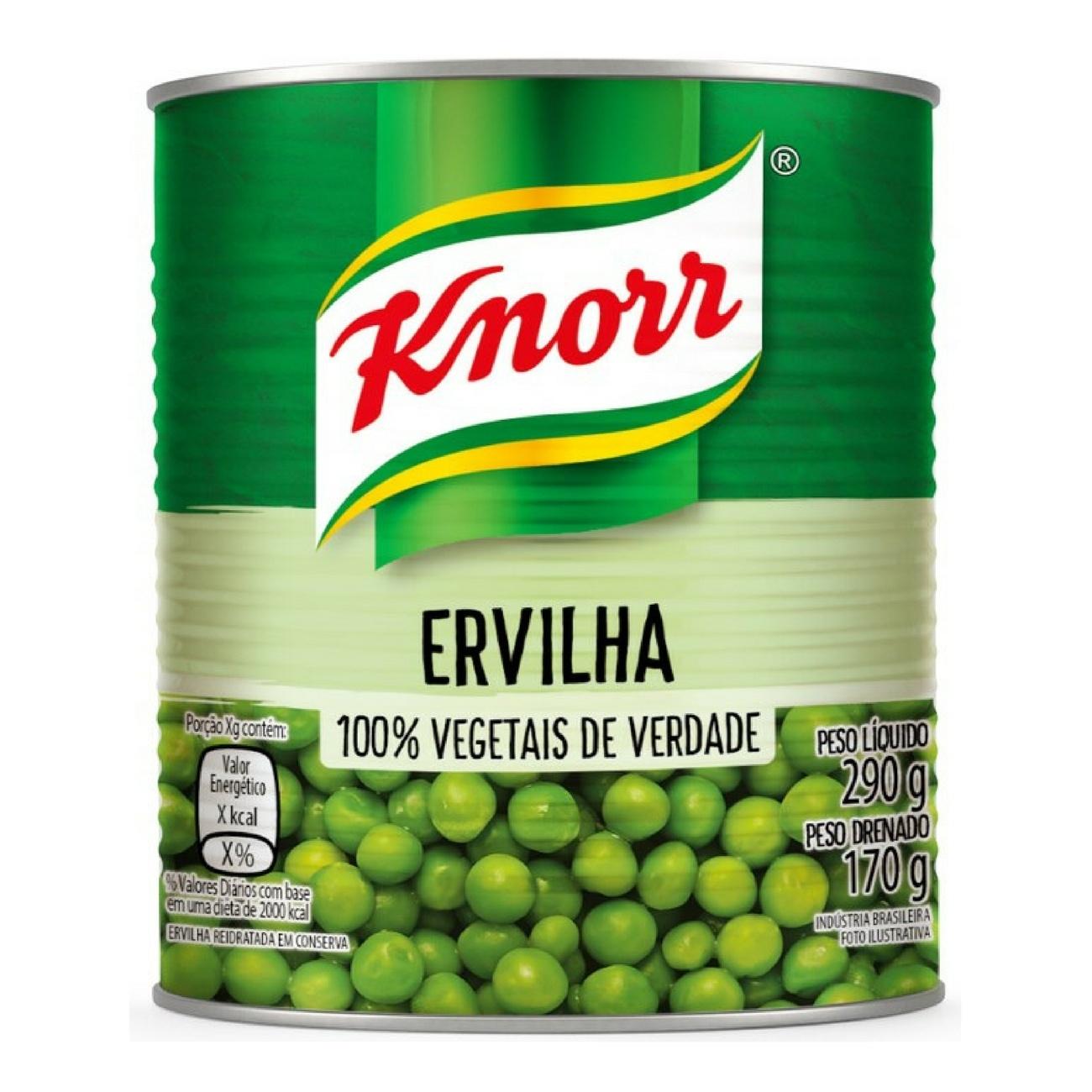 Ervilha em Conserva Knorr 170g | Caixa com 1