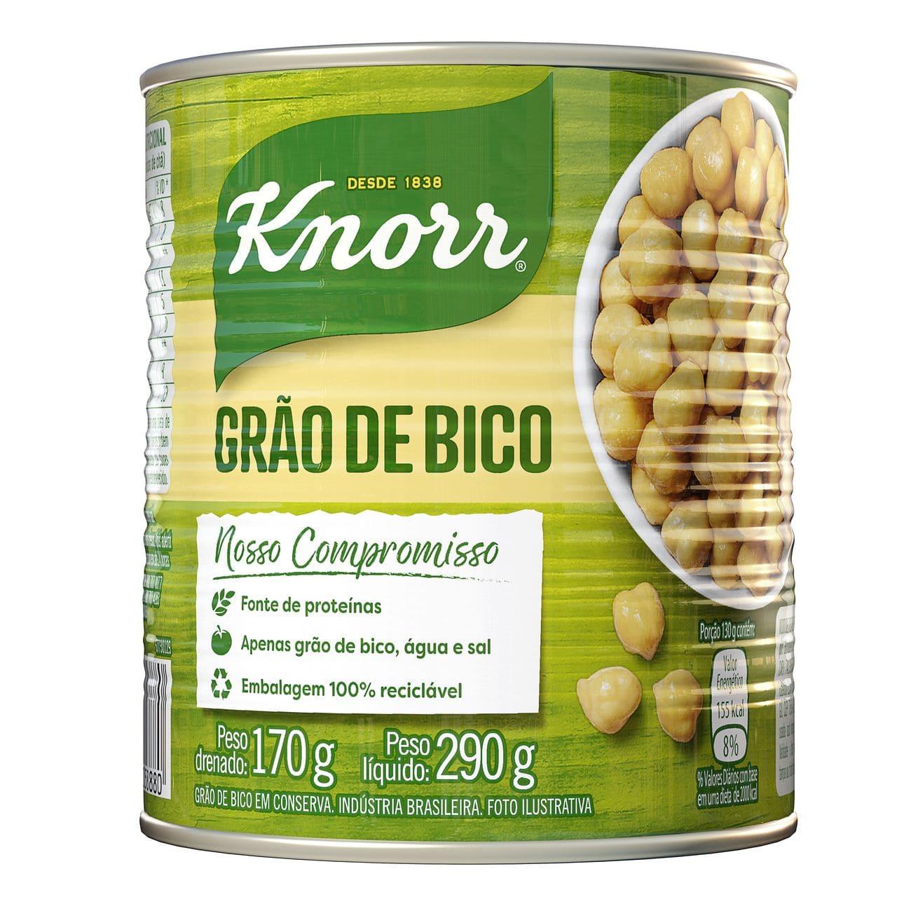 Grão de Bico em Conserva Knorr 170g