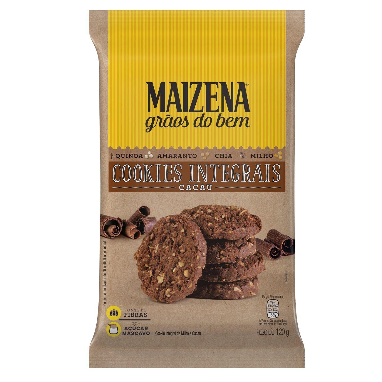 Maizena Grãos do Bem Cookies Integrais de Cacau 120g
