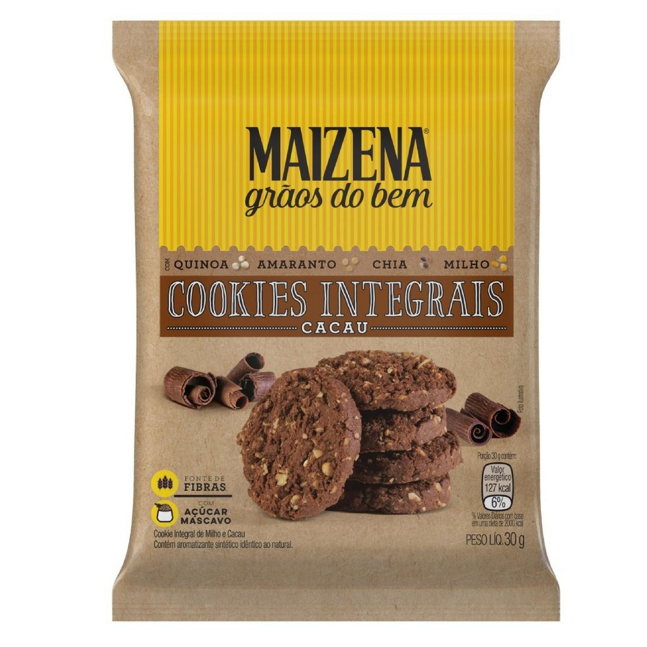 Maizena Gr�os do Bem Mini Cookies Integrais de Cacau 30g