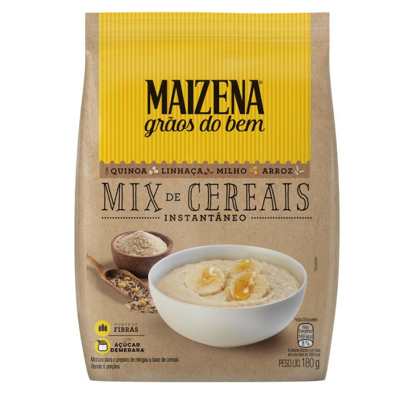 Maizena Gr�os do Bem Mix de Cereais Instant�neo 180g