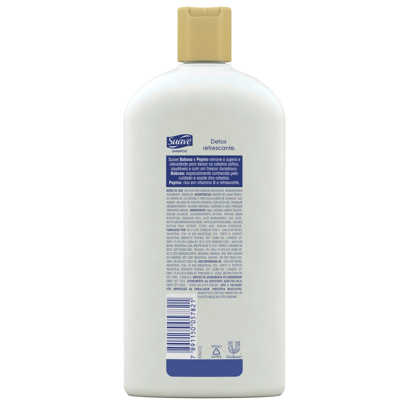 Shampoo Suave Babosa e Pepino 750 ML