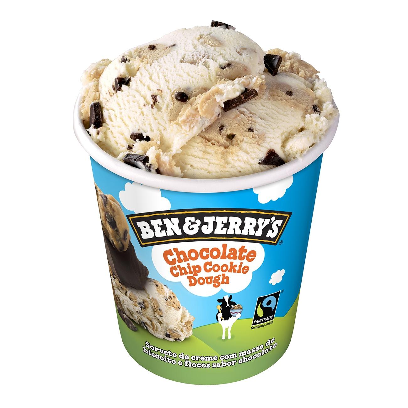 Sorvete Ben&Jerry's Chocolate Chip Cookie Dough 458ML | Caixa com 8