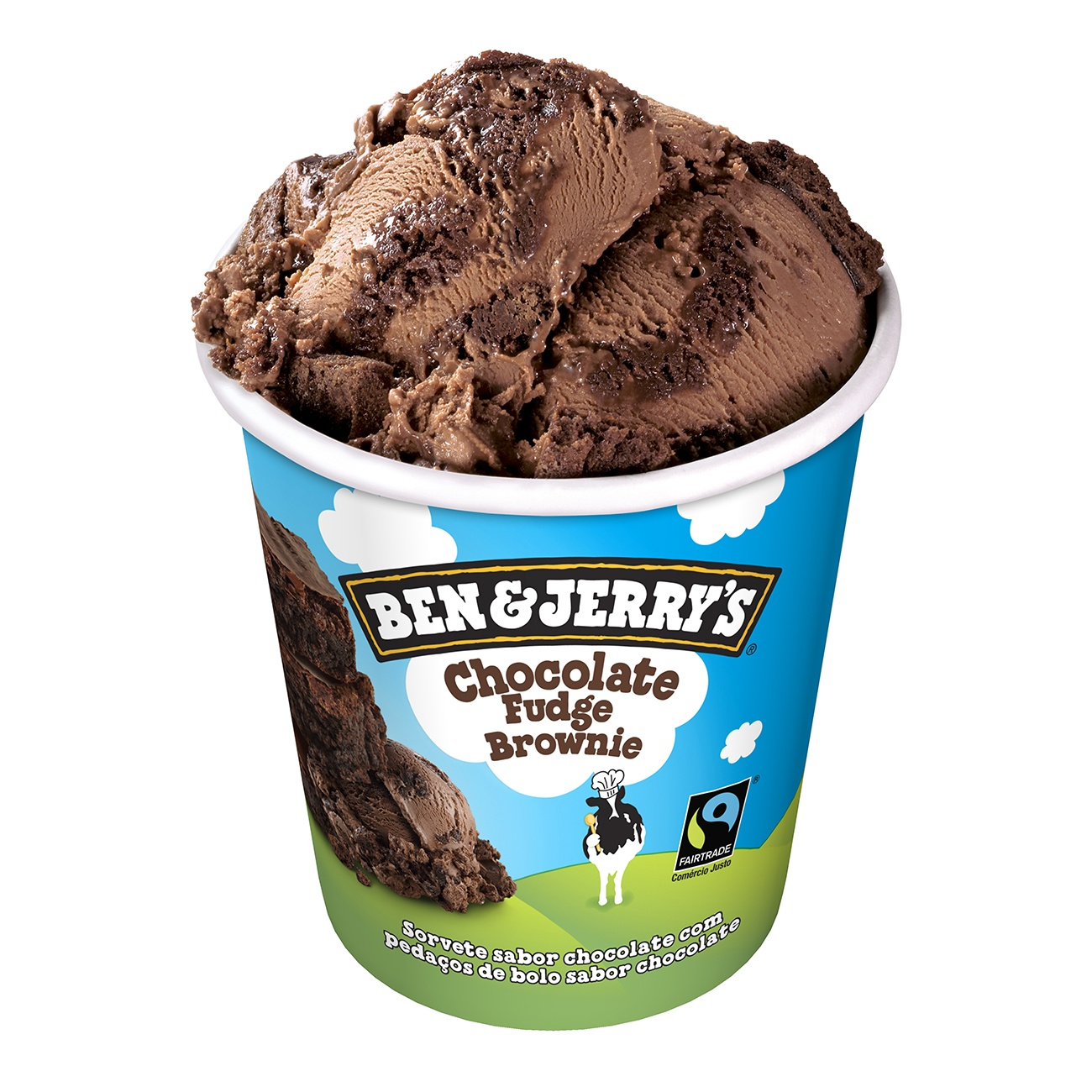 Sorvete Ben&Jerry's Chocolate Fudge Brownie 458ML | Caixa com 8
