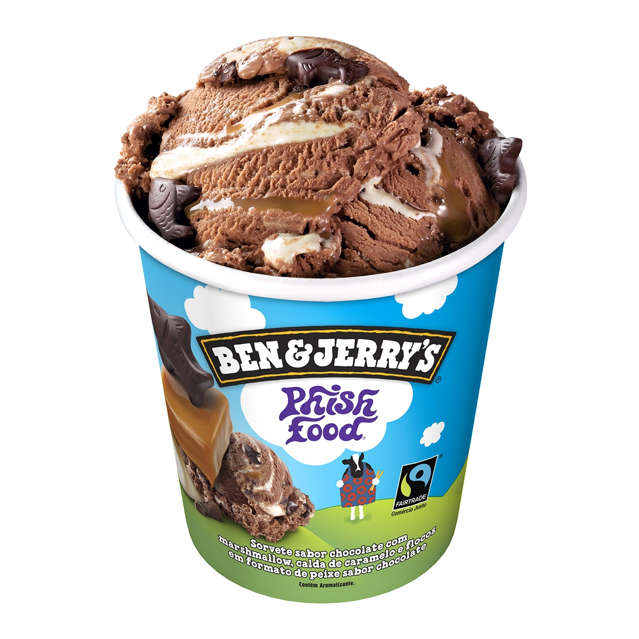 Sorvete Ben&Jerry's Phish Food 458ML   Caixa com 8