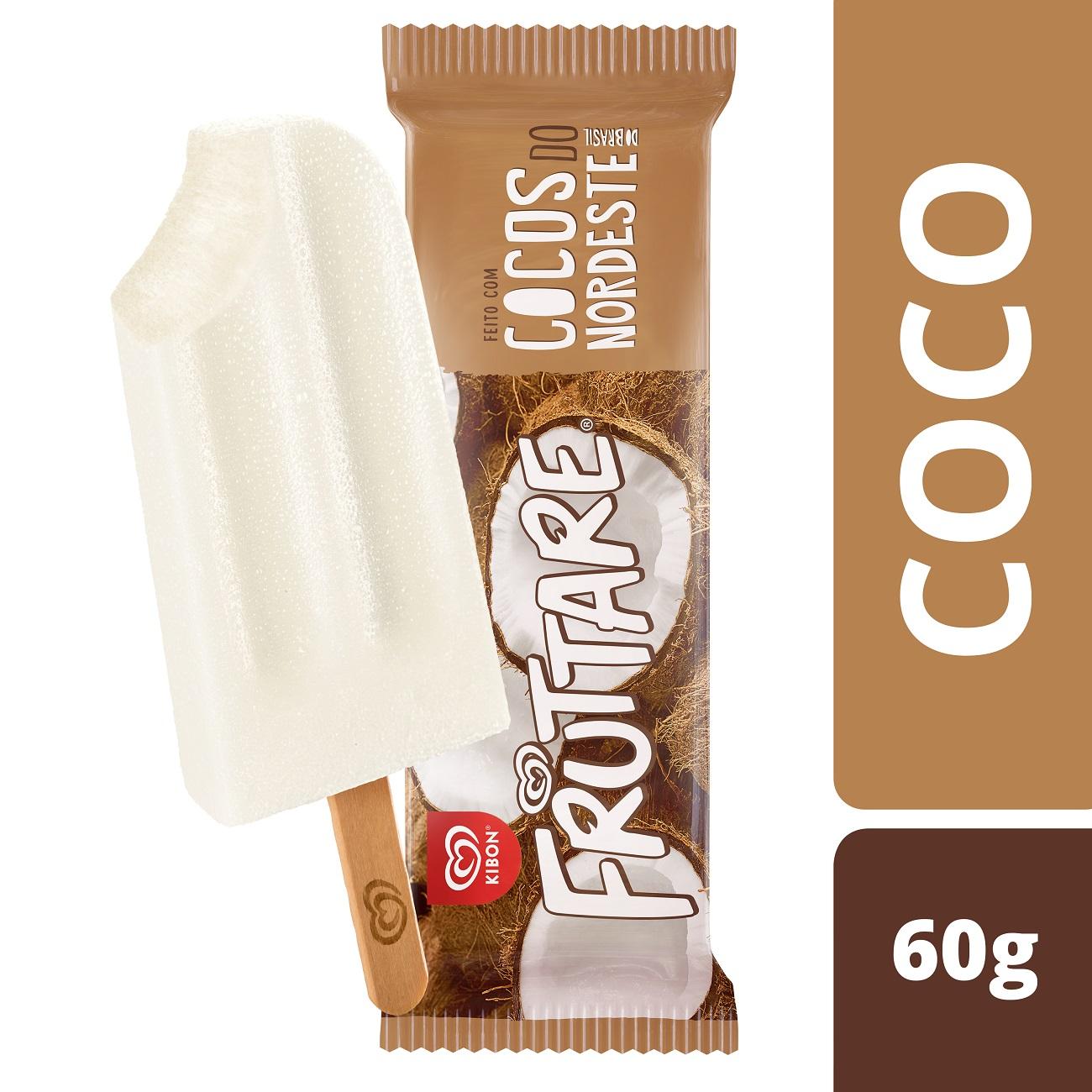 Sorvete Kibon Fruttare Palito Coco 60ML   Caixa com 28