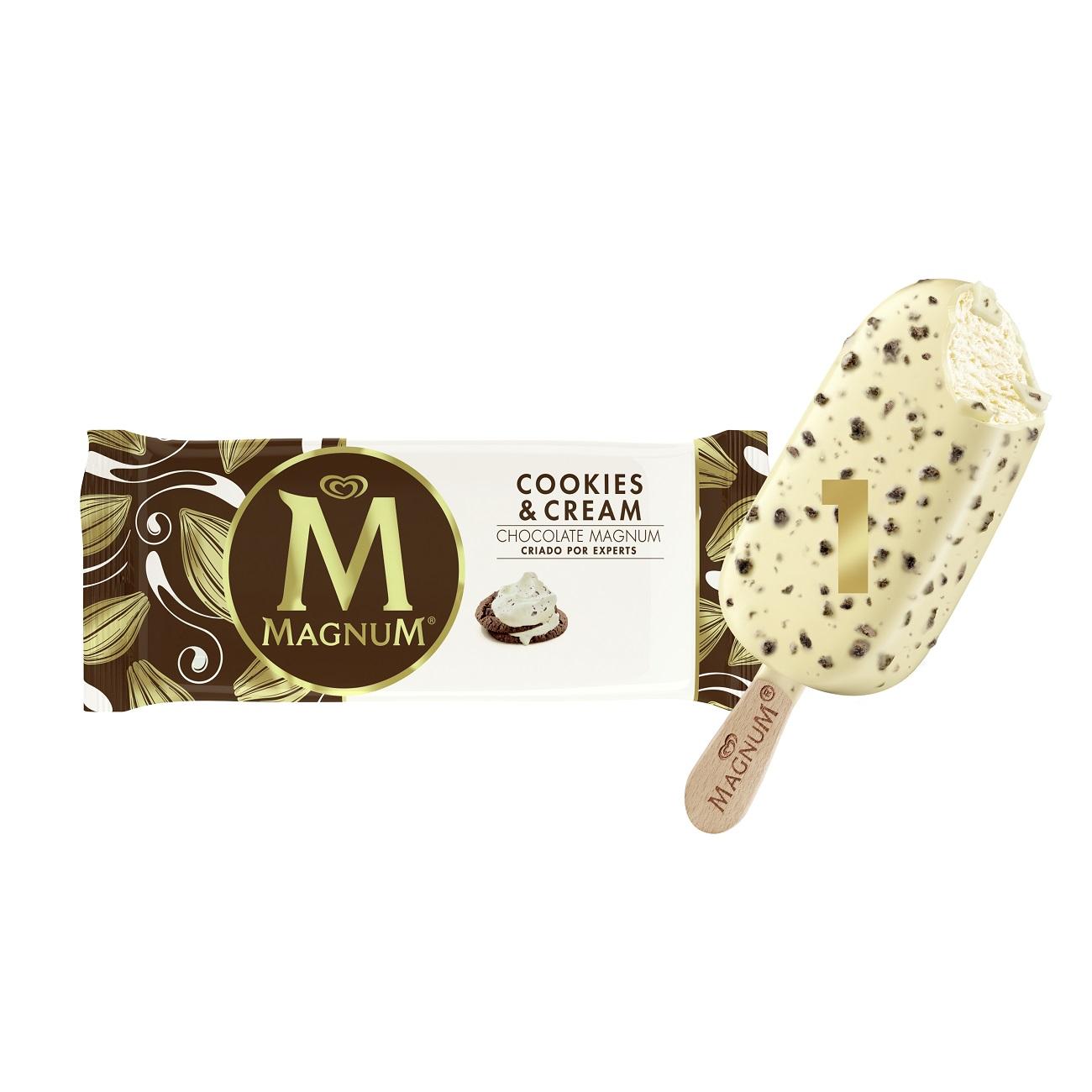 Sorvete Kibon Magnum Cookies&Cream 100ML | Caixa com 16