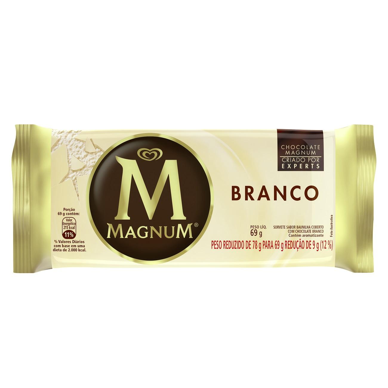 Sorvete Kibon Magnum Picole White 100ML | Caixa com 18
