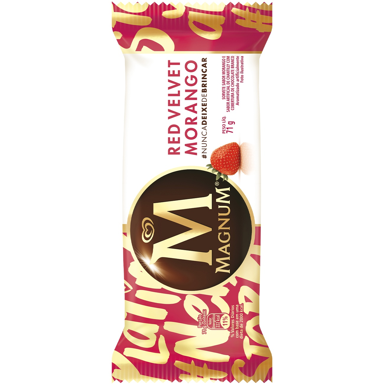 Sorvete Kibon Magnum Red Velvet 90ML | Caixa com 18