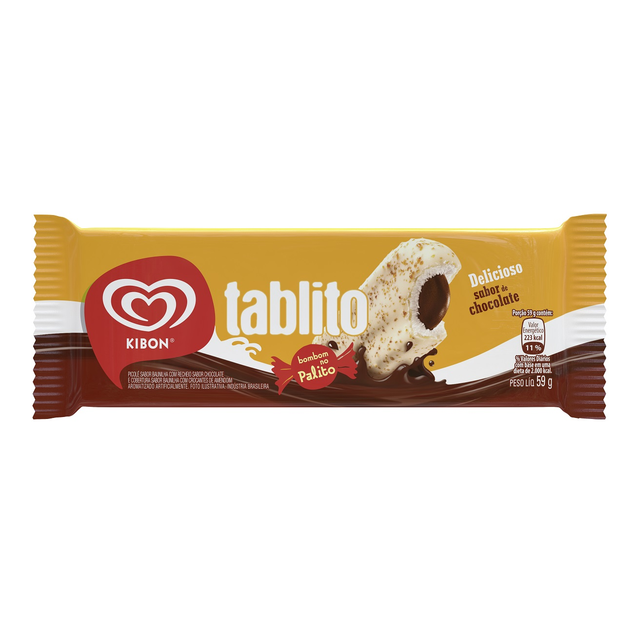 Sorvete Kibon Palito Tablito 72ML | Caixa com 24