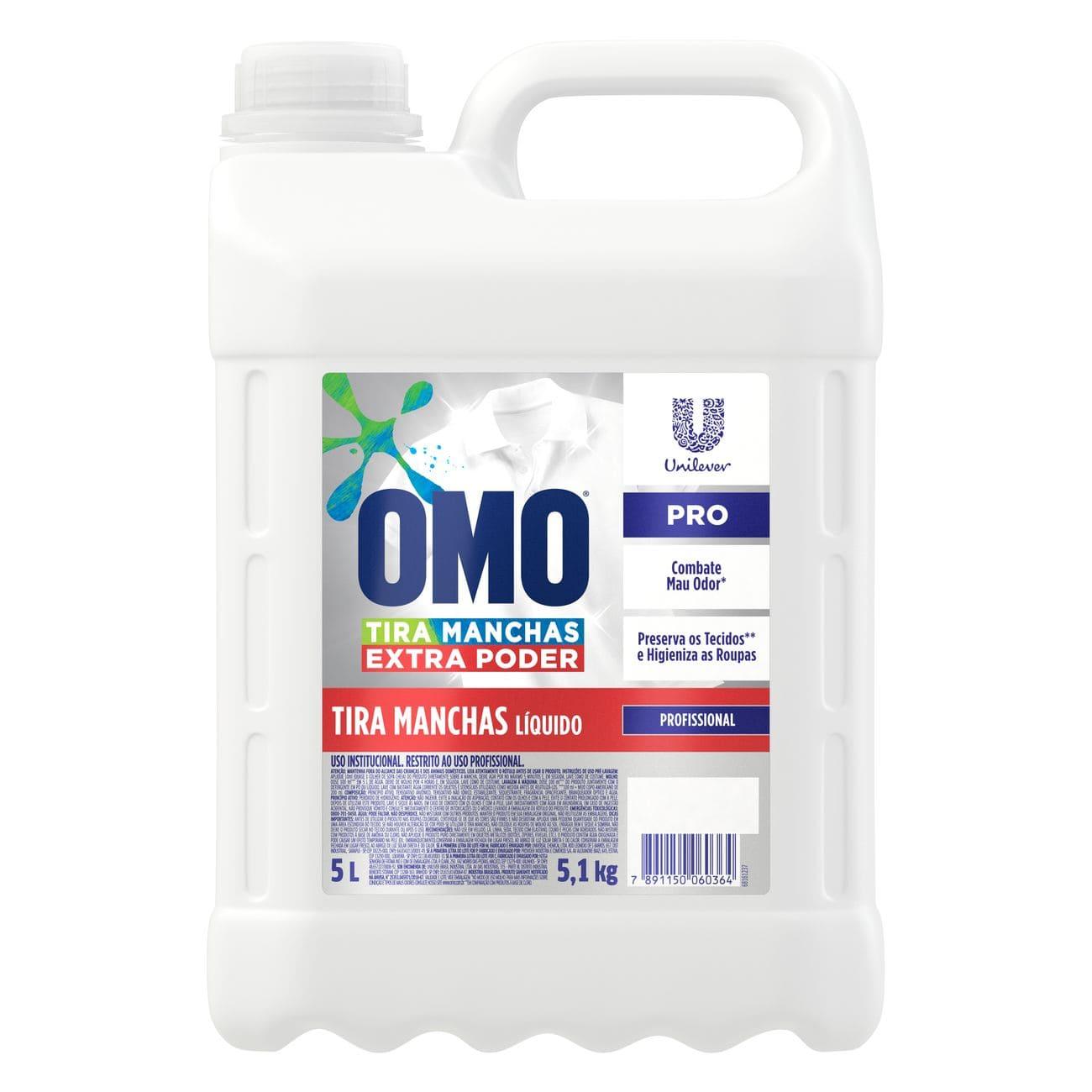 Tira Manchas Liquido Omo 5L | Uso Profissional