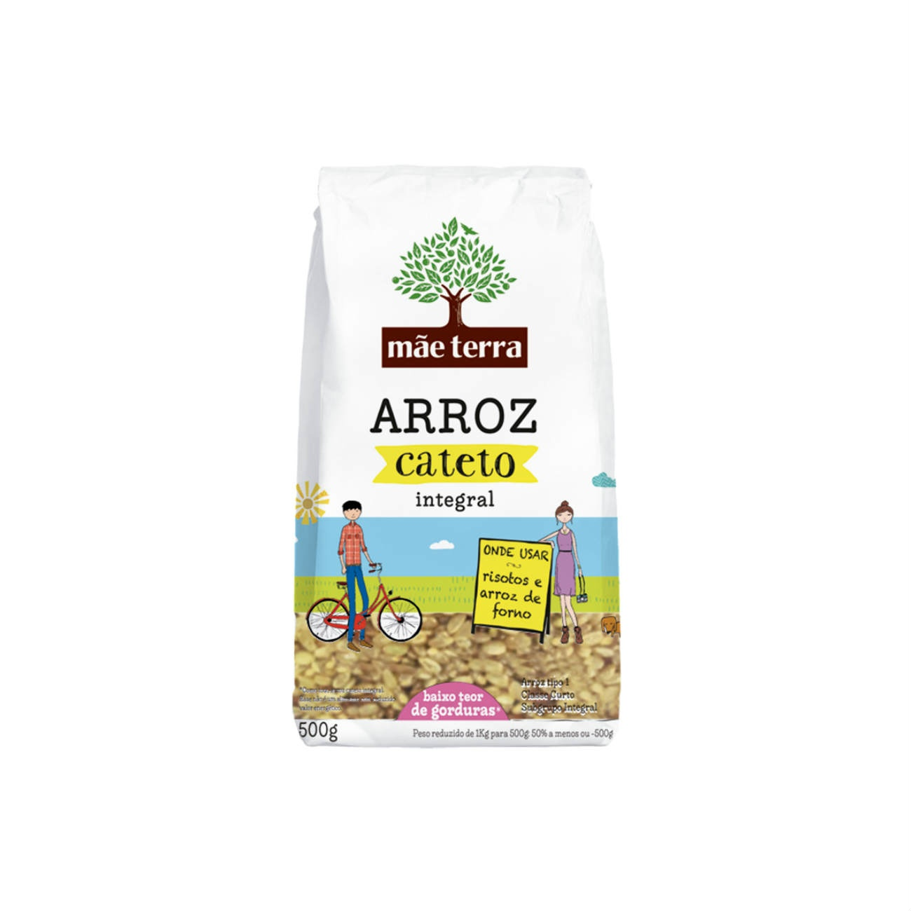 Arroz Integral M�e Terra Cateto 500g