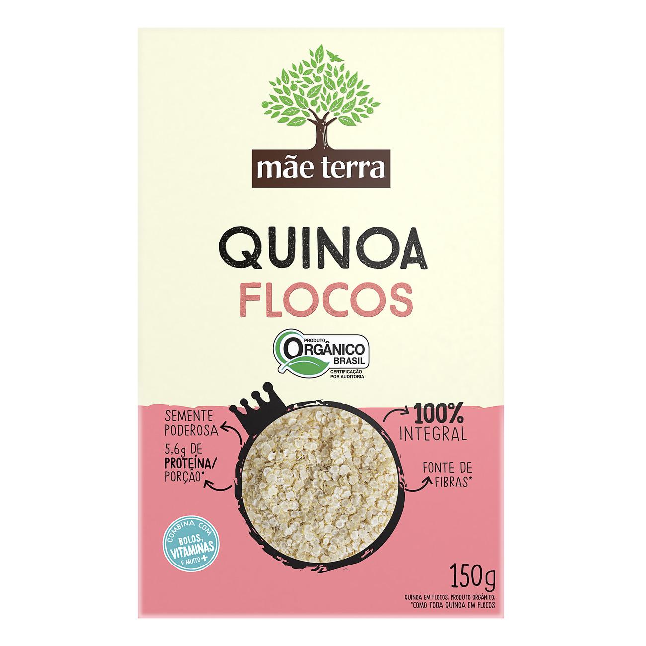 Quinoa em Flocos Integral Orgânica Mãe Terra 150g