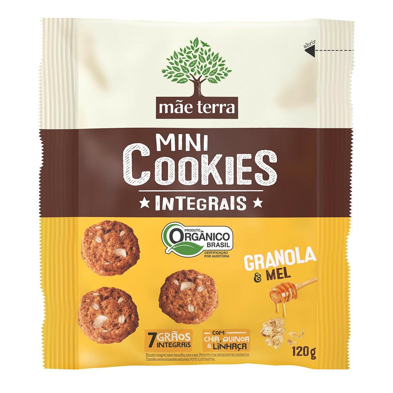 Cookies Orgânicos Mãe Terra Diet Granola e Mel 120g
