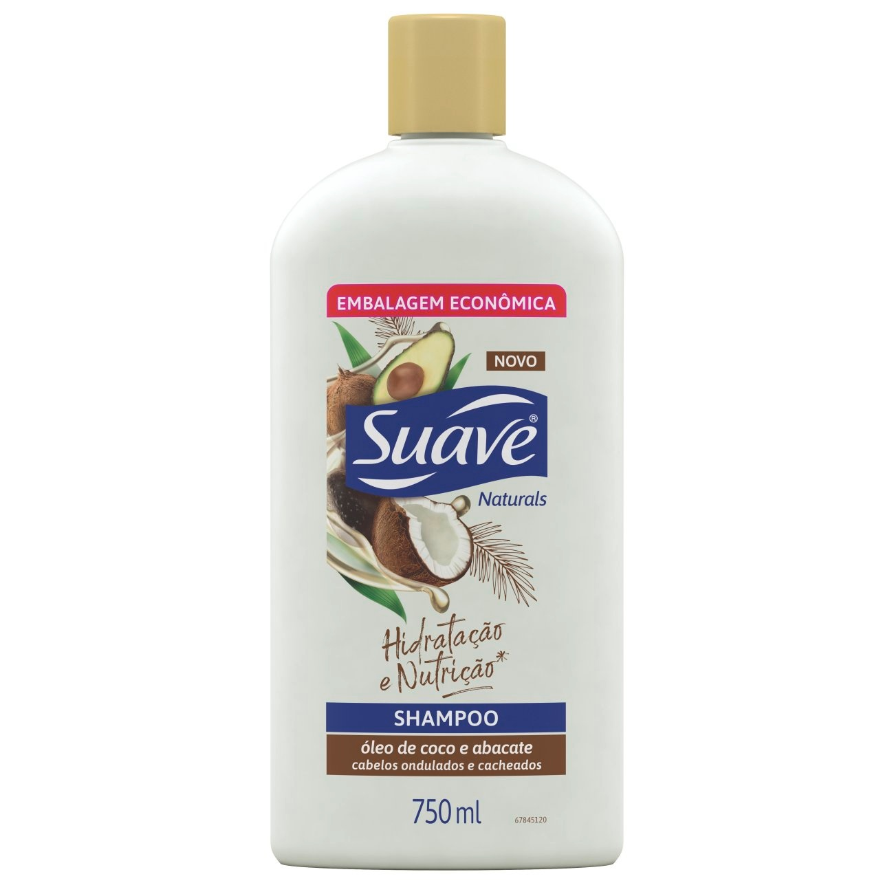 Shampoo Suave �leo de Coco e Abacate 750 ML