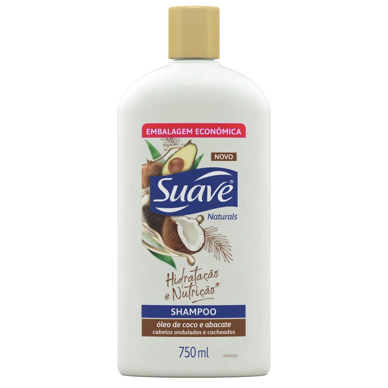 Shampoo Suave Óleo de Coco e Abacate 750 ML