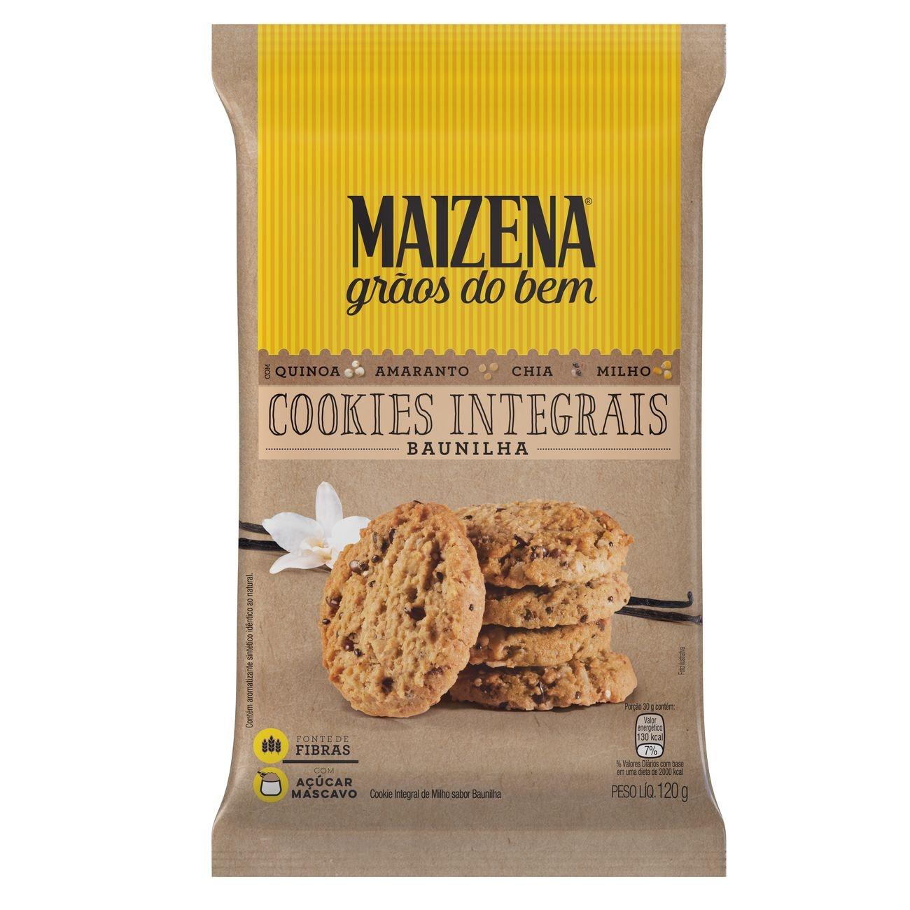 Cookie Integral Maizena Grãos do Bem Baunilha 120g