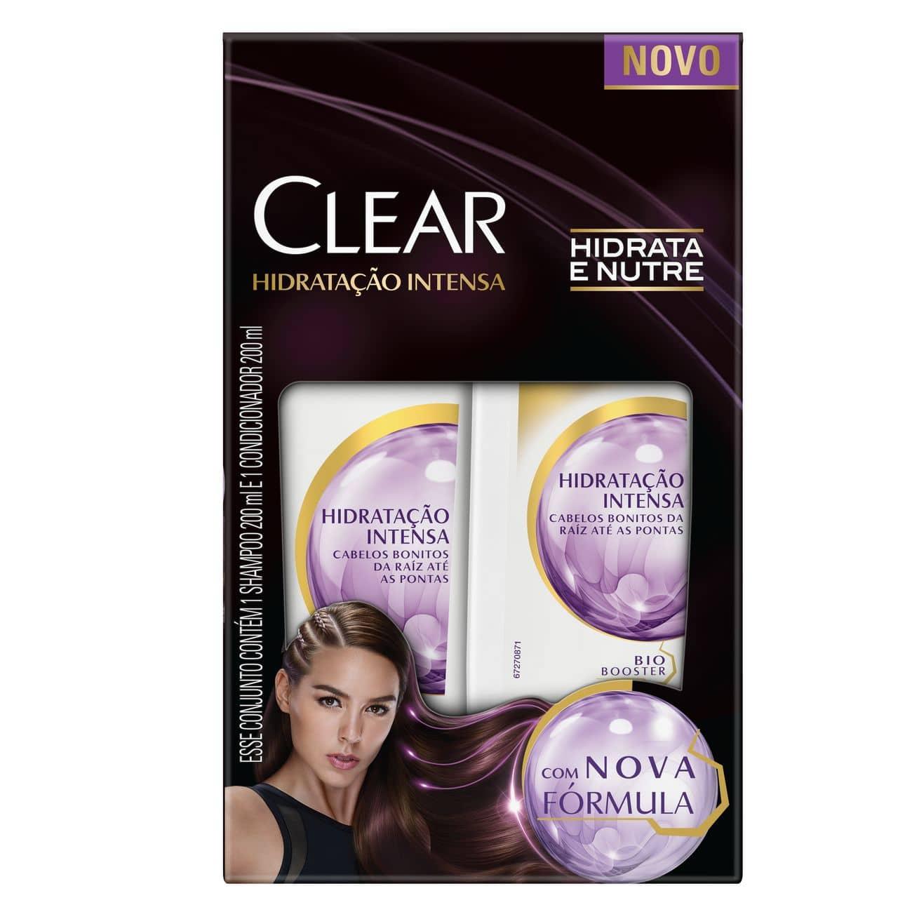Oferta Shampoo e Condicionador Clear Hidratação Intensa 200ml