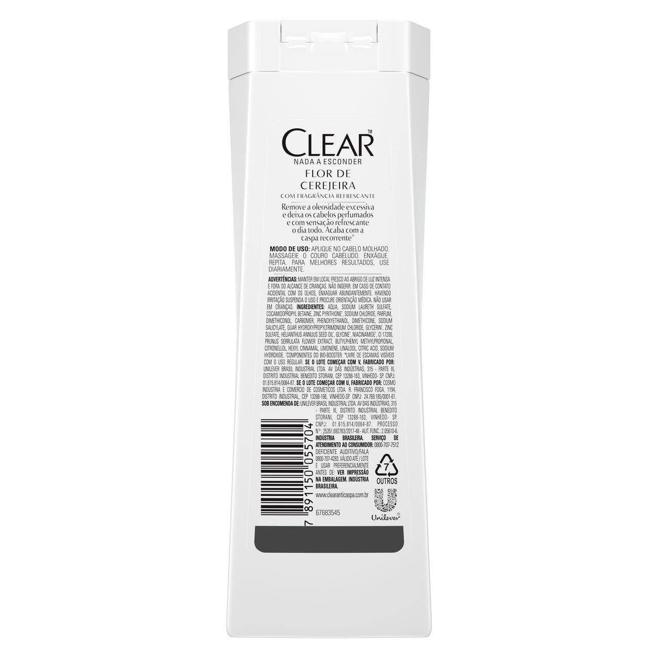 Shampoo Anticaspa Clear Flor de Cerejeira 200ml