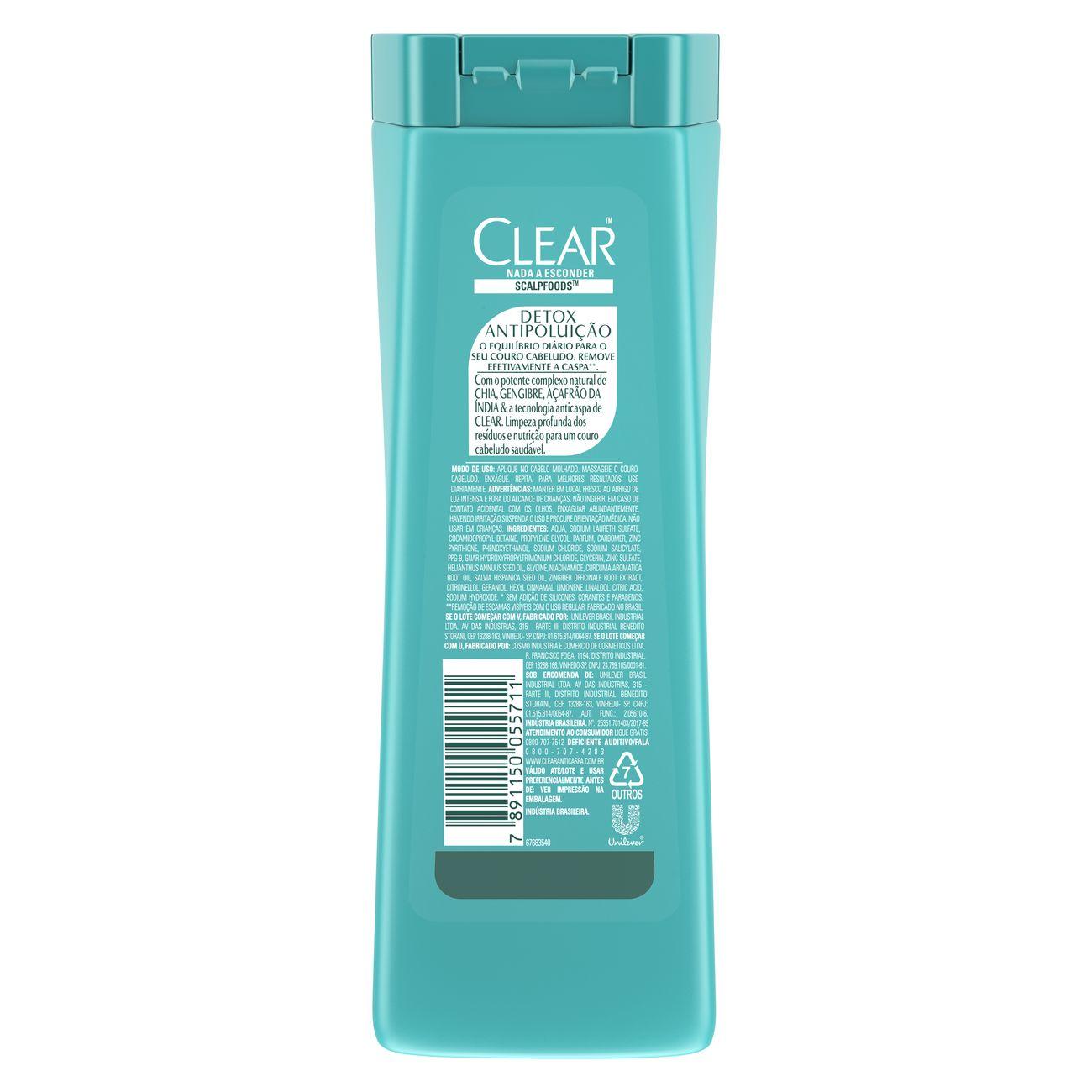 Shampoo Anticaspa Clear Detox Polui��o 200ml