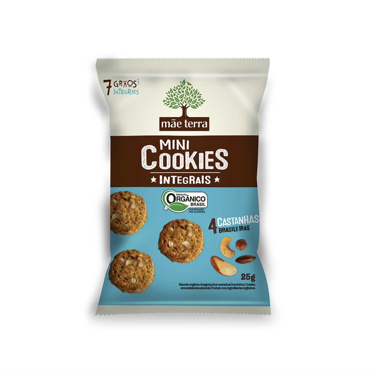 Cookies Org�nicos M�e Terra 4 Castanhas 25g