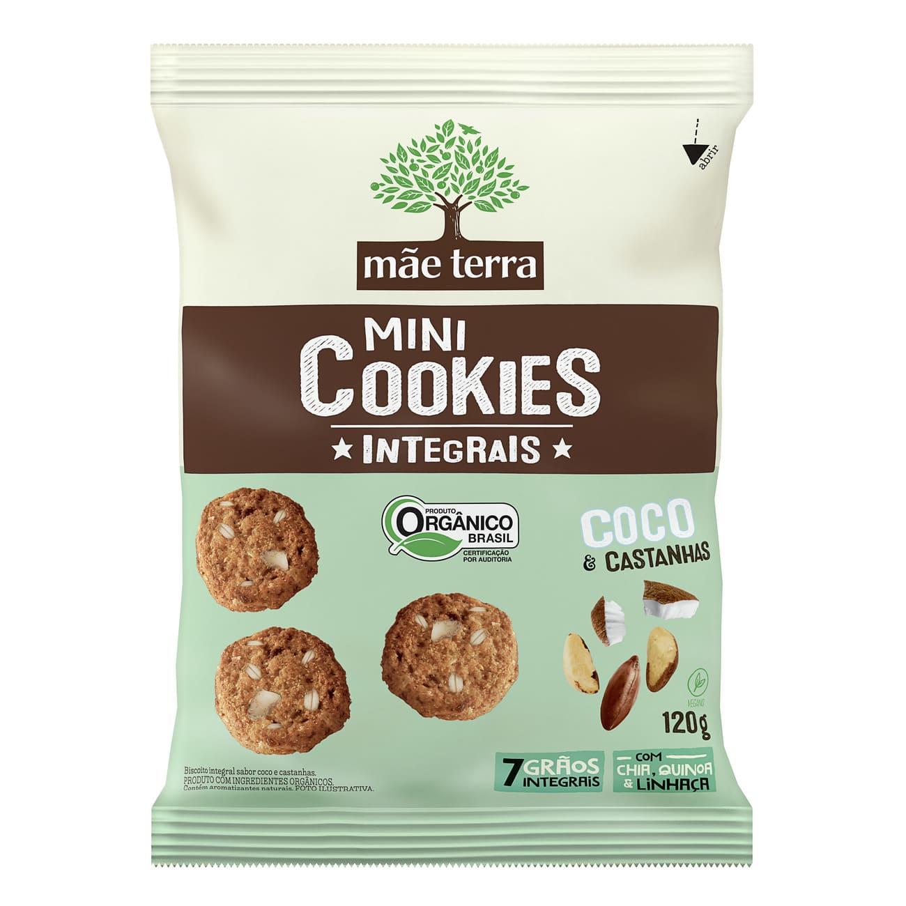 Cookies Orgânicos Mãe Terra Coco e Castanhas 120g