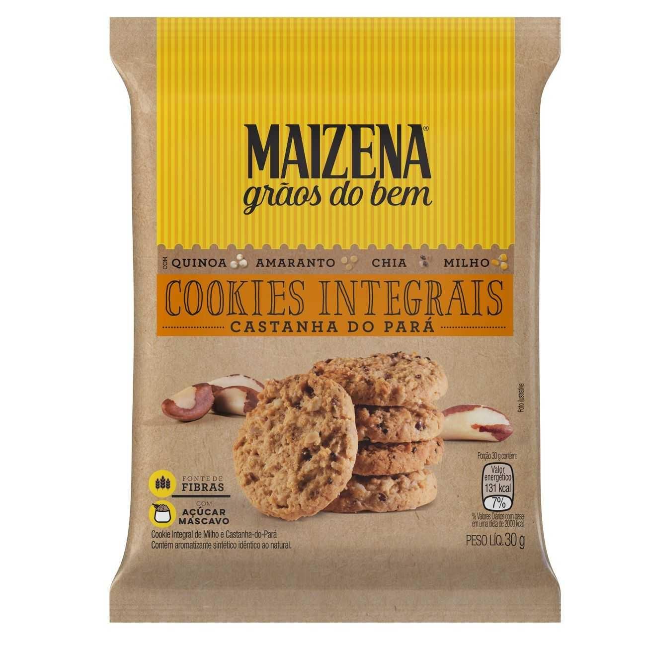 Cookies Integrais Maizena Castanha do Pará 30g