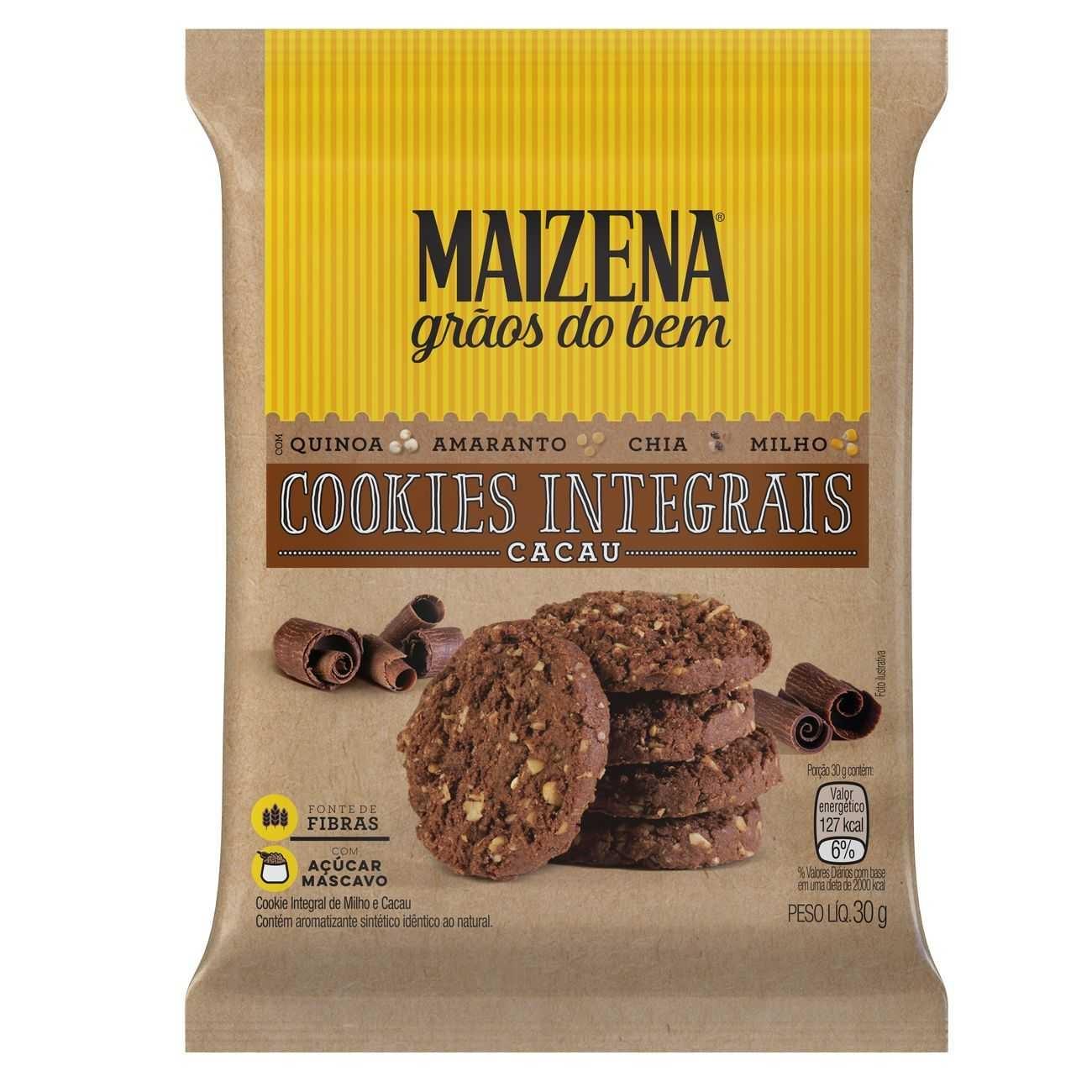 Cookies Integrais Maizena Cacau 30g