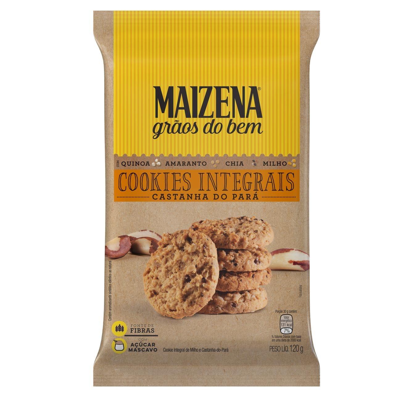 Cookies Integrais Maizena Castanha do Pará 120g