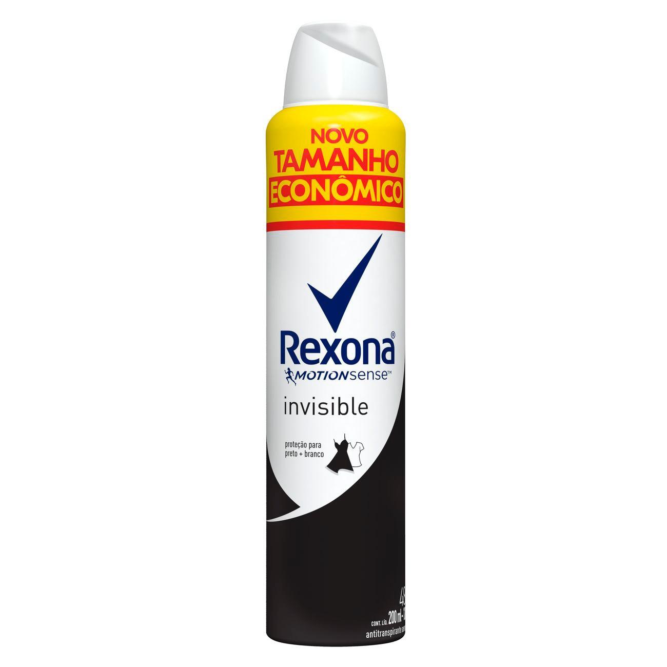 Desodorante Antitranspirante Aerosol Rexona Feminino Invisible 200ml