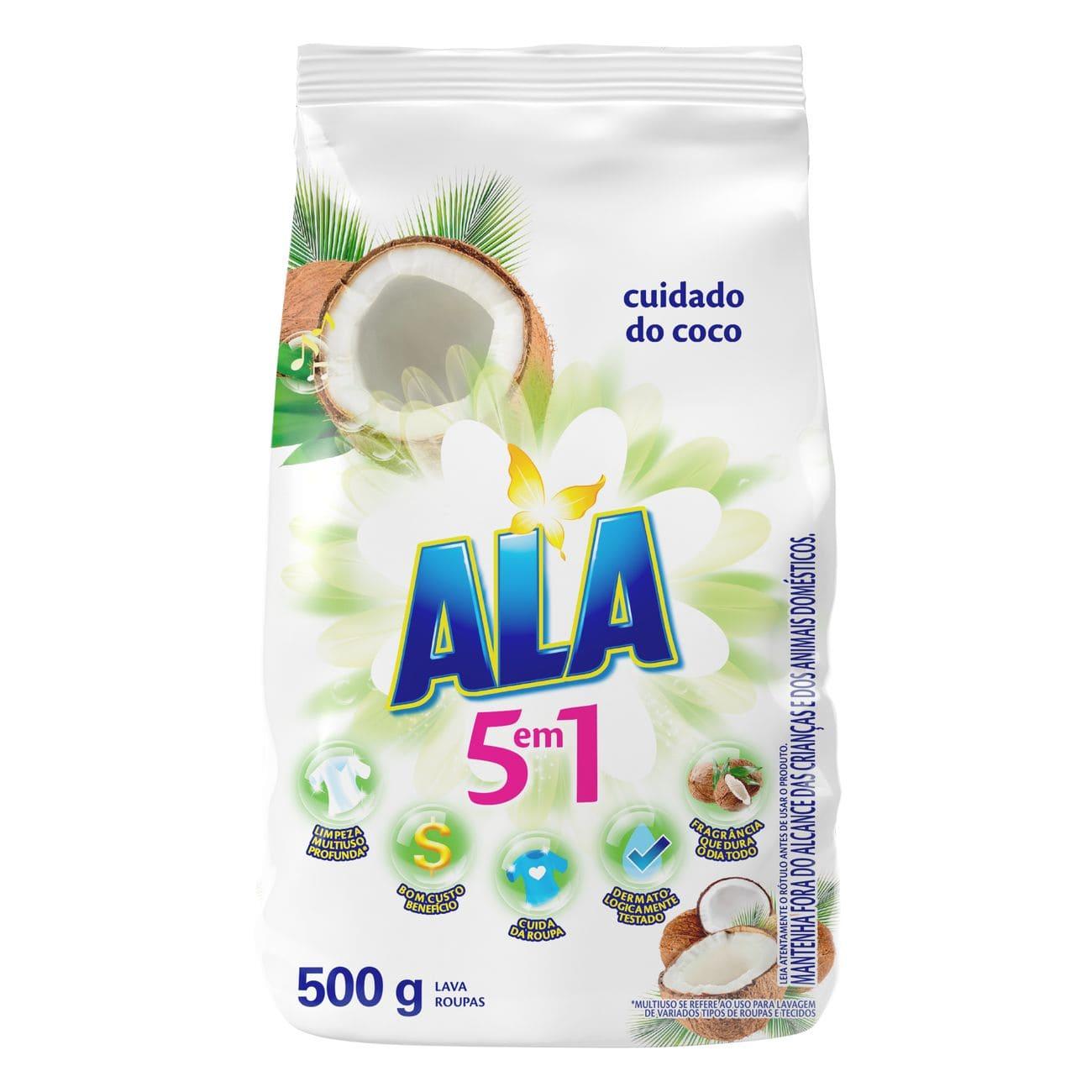 Sabão em Pó ALA Cuidado do Coco 500g