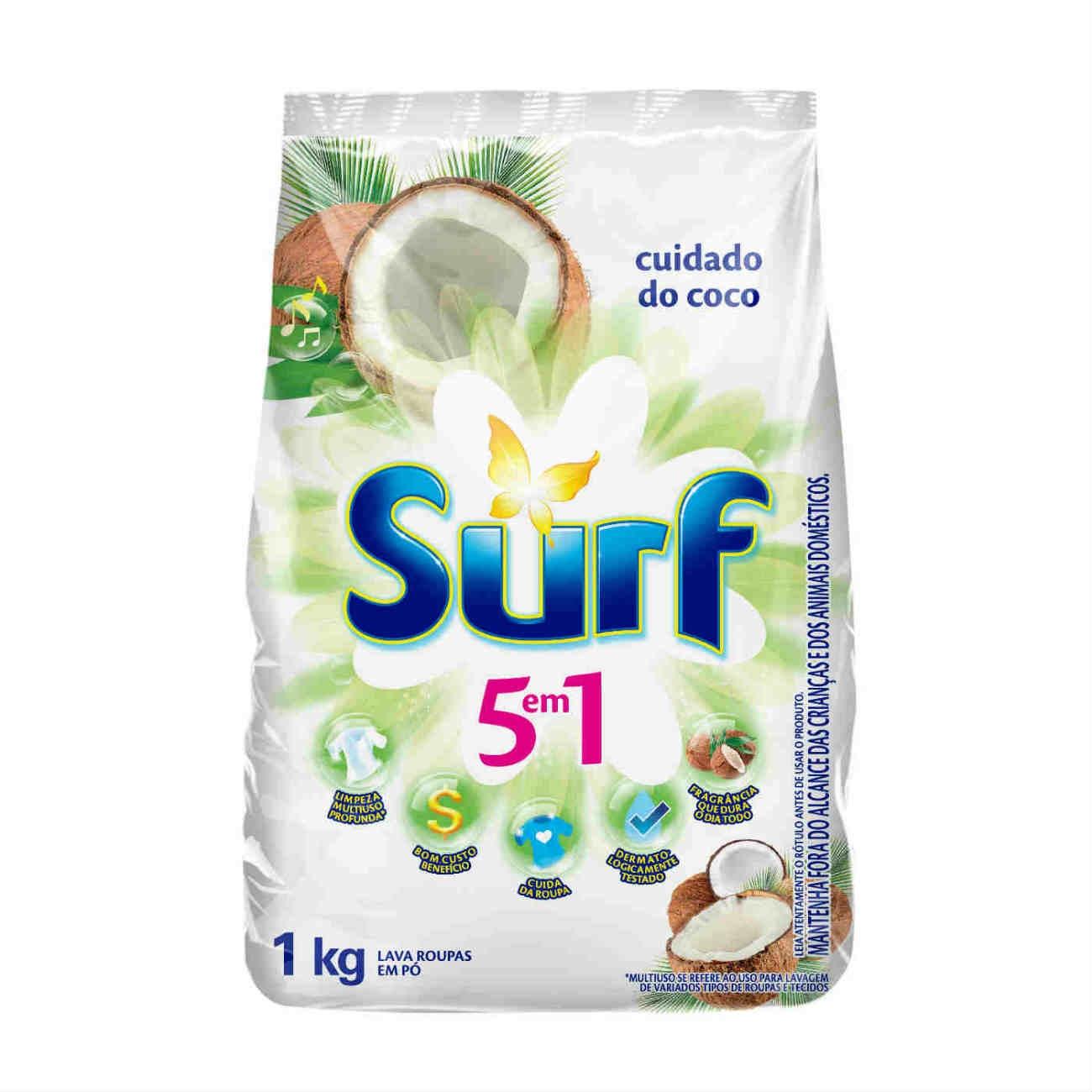 Sabão em Pó Surf Cuidado do Coco 1Kg