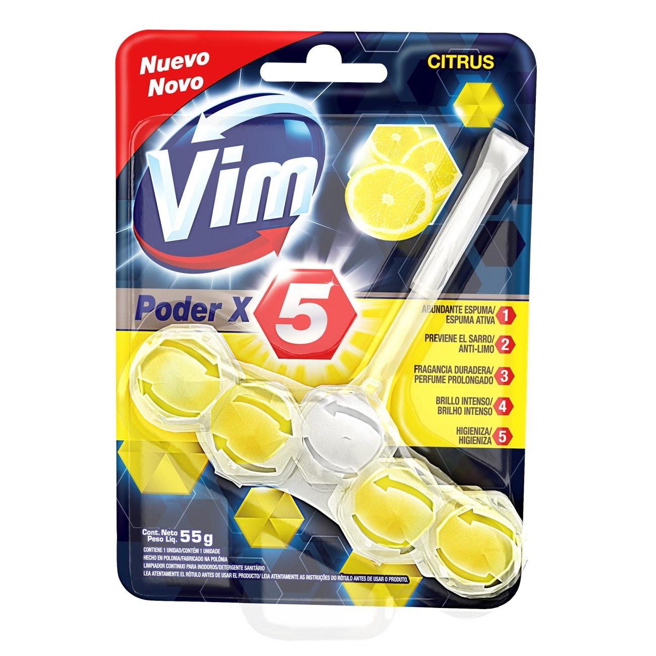 Bloco Sanitário VIM Poder X5 Citrus 55g