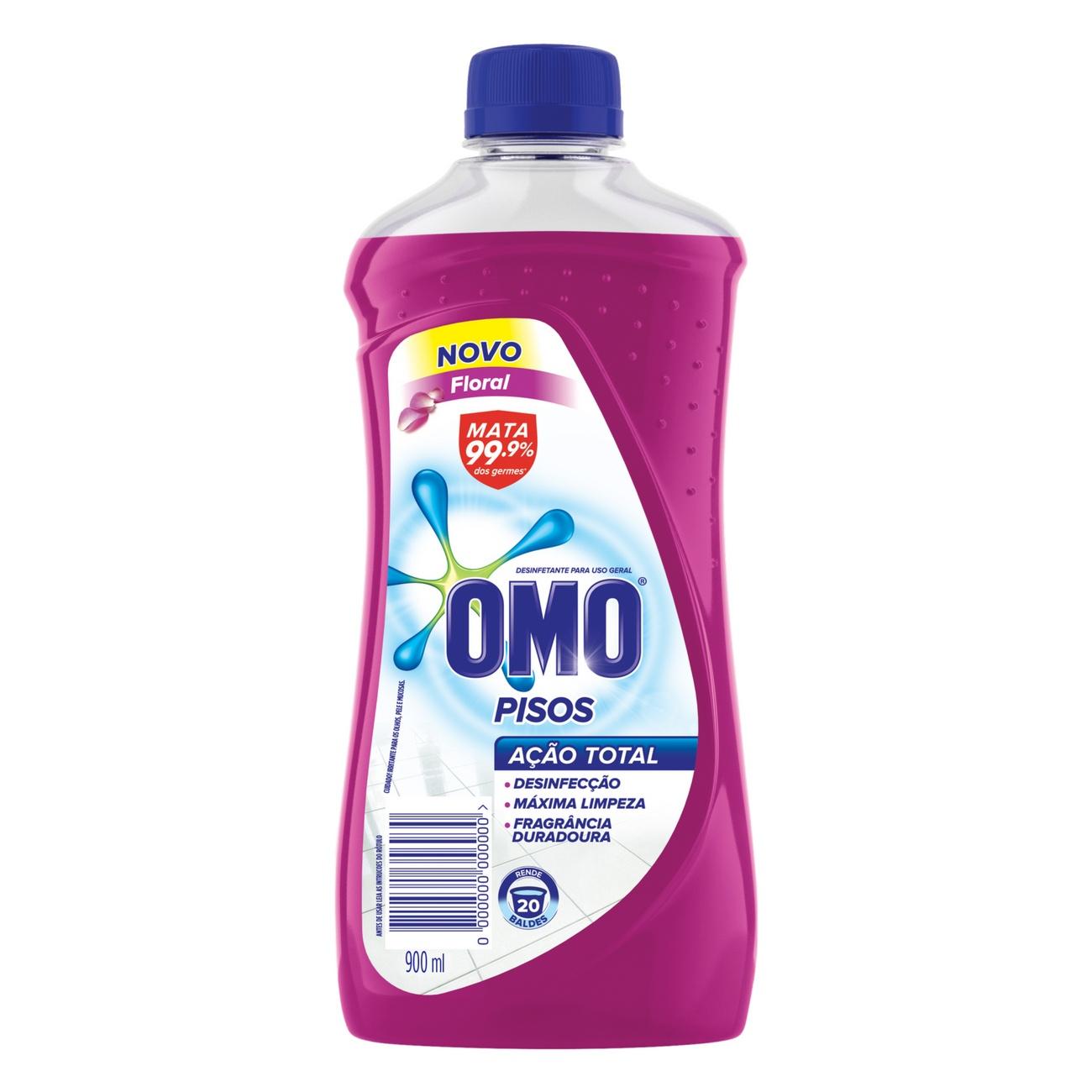 Limpador de Piso Desinfetante Omo Floral 900ml