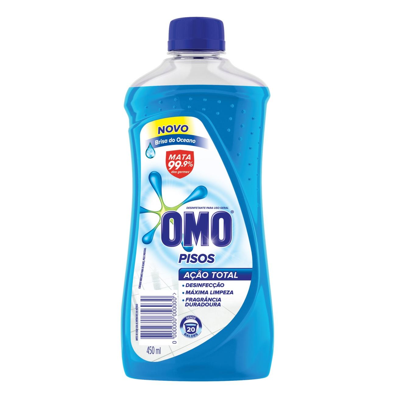 Limpador de Piso Desinfetante Omo Brisa do Oceano 450ml