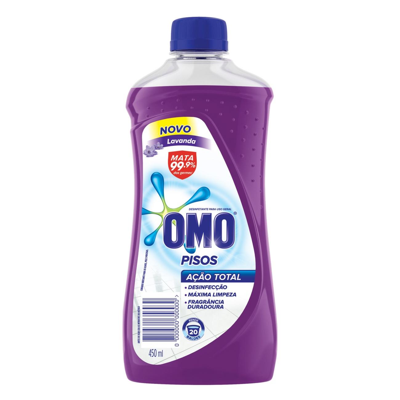Limpador de Piso Desinfetante Omo Lavanda 450ml