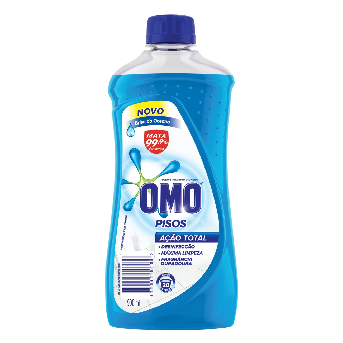 Limpador de Piso Desinfetante Omo Brisa do Oceano 900ml