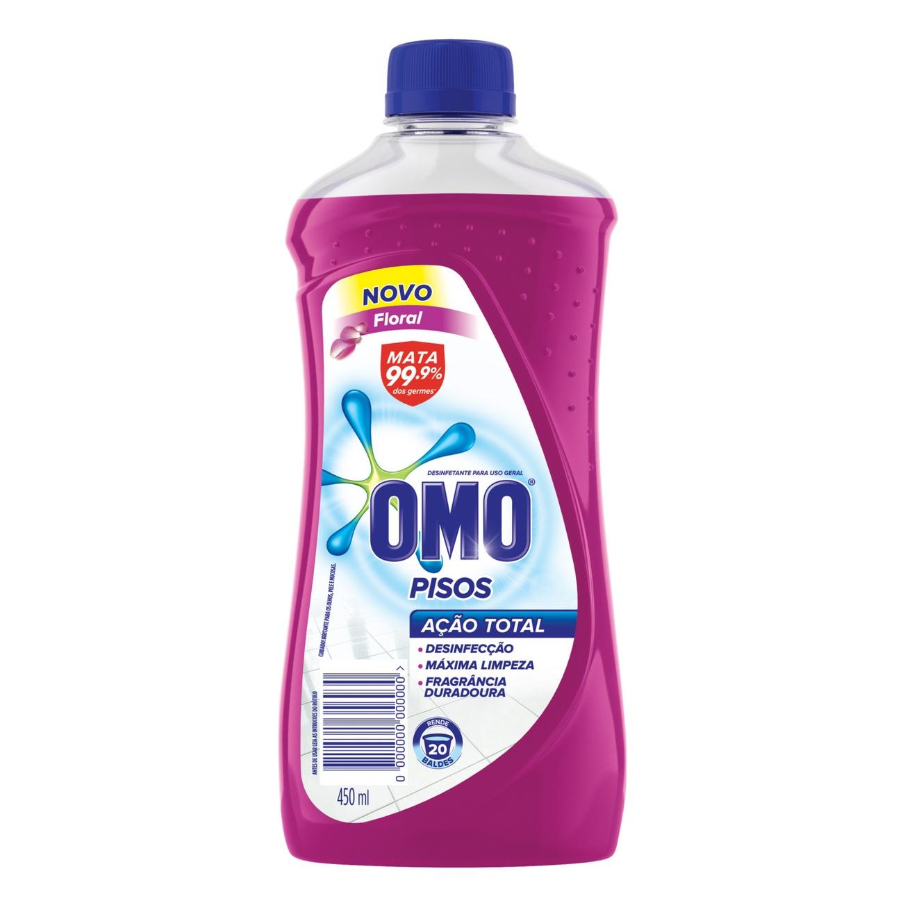 Limpador de Piso Desinfetante Omo Floral 450ml
