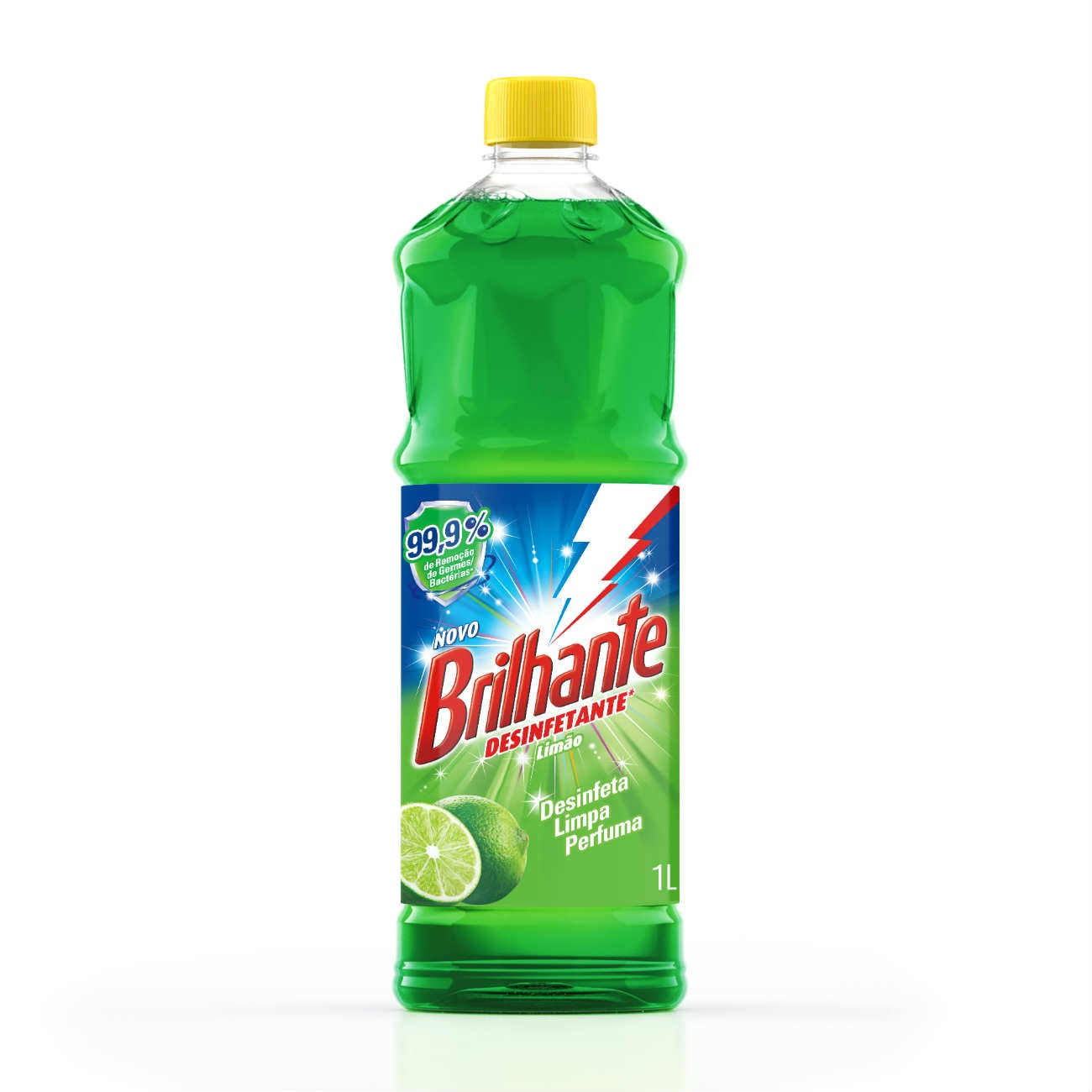Limpador de Piso Desinfetante Brilhante Limão 1L