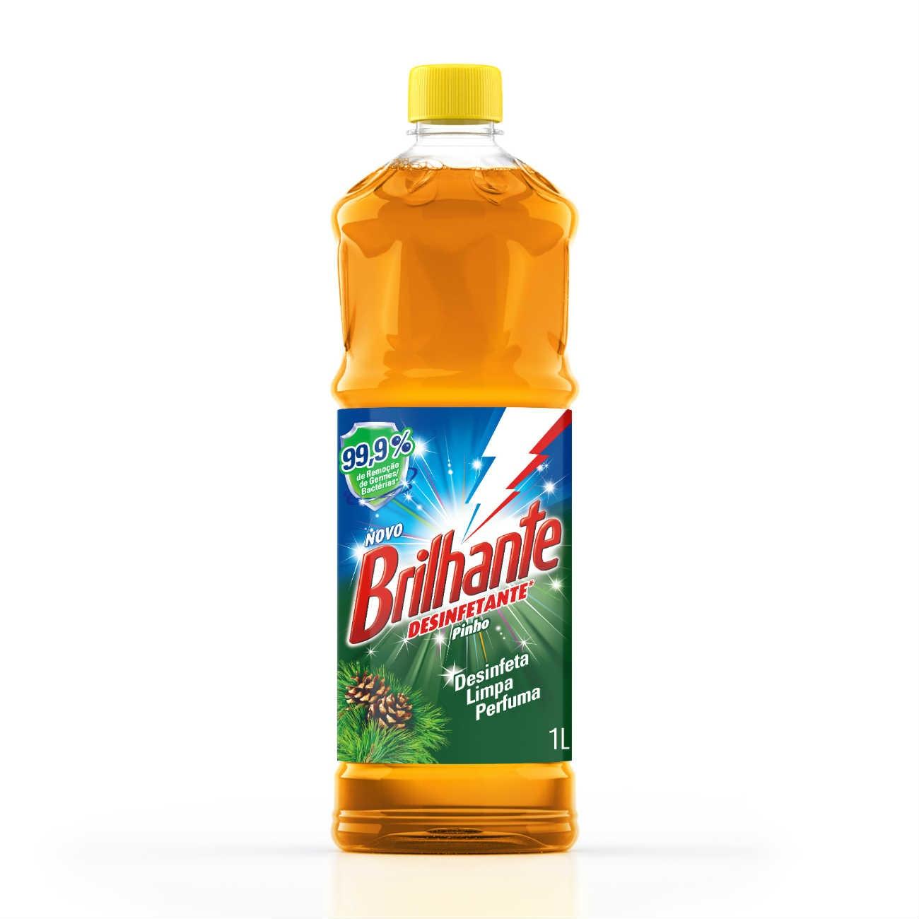Limpador de Piso Desinfetante Brilhante Pinho 1L