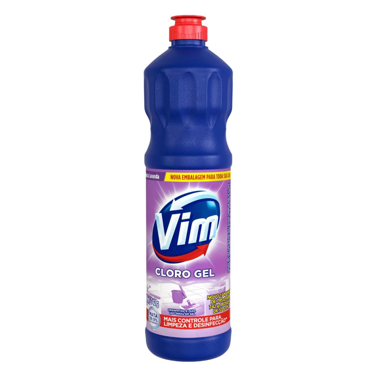 Cloro Gel VIM Aditivado Lavanda 700ml